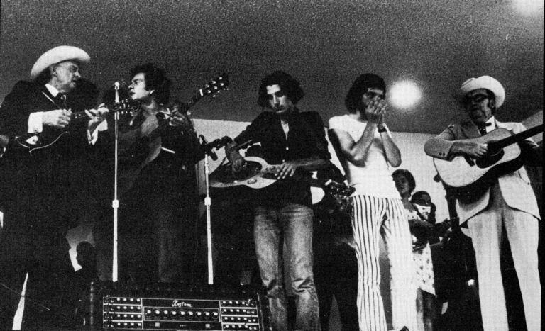Bill Monroe, JJM & friends, Lester Flatt (Kentucky 1973)